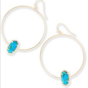 Kendra scott elora statement hoop earrings